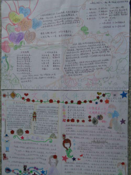 """雪岸初中举行""""平安校园 文明出行""""手抄报比赛"""