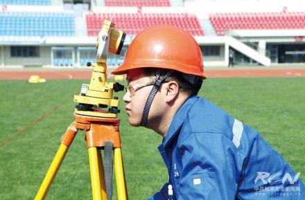 """""""常青杯""""工程测量员技能竞赛举行一角"""