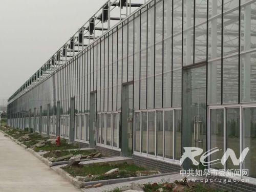 04即将建成的1万平米的智能温室大棚