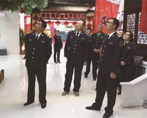 如皋市地方海事处参观中国工农红军第十四军纪念馆