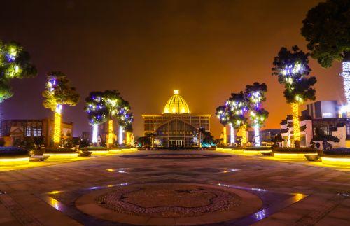 国际园艺城中心广场夜景