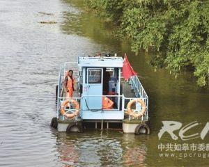 如皋工业园区(如城街道)引进新能源纯电动保洁船