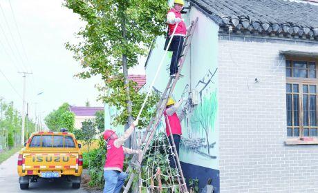 市供电公司为孤寡老人义务检修电力线路