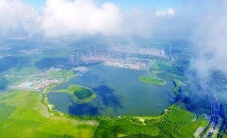 俯瞰夏日龍游湖