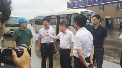 南通市副市长赵闻斌检查如皋防台防汛工作