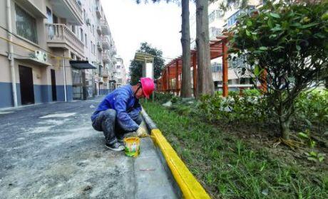 仙鶴新村小區改造正在進行