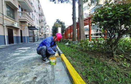 仙鹤新村小区改造正在进行