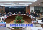 市委常委会会议讨论多项议题