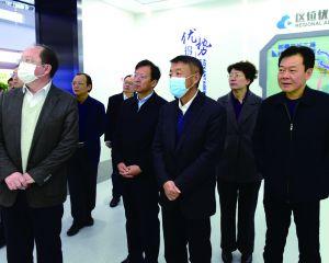 中國電子及上海浦東軟件園高層 來如考察軟件園