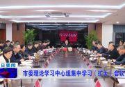 市委理论学习中心组集中学习(扩大)会议召开