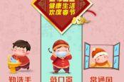 春节期间疫情防控宣传海报